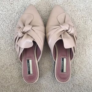 Topshop bow mules- dusty pink